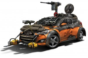 2013 Hyundai Veloster Zombie Survival Machine